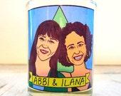 Abbi & Ilana Broad City Glass Votive Candle // LGBTQ Altar Candle