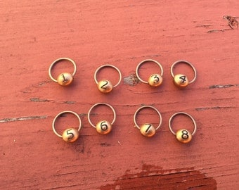 Numbered Stitch Markers Snag Free Knitting Stitch Markers Knitting Accessories Row Counting Gift for Knitters