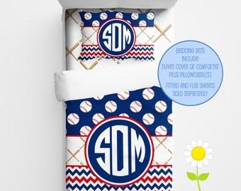 Personalized Baseball Bedding for Kids - Baseball Duvet or Comforter for Boys - Personalized Duvet Set for Kids - Custom Kids' Comforter