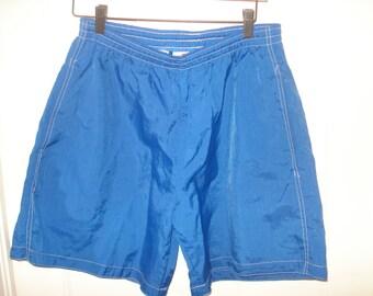 90's Pepsi Blue Swim Trunks or Shorts Nylon size Medium