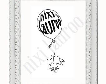 Nixi Bunny Giclée Print