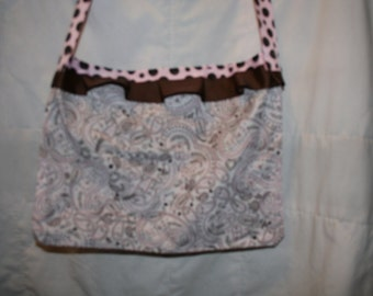 pink and brown paisley purse