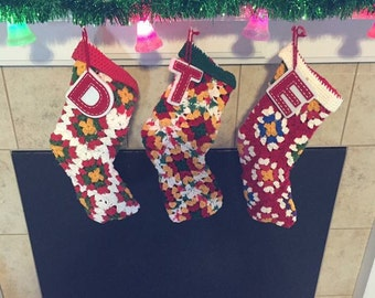 Granny square Christmas stockings