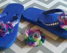Fancy Girls Flip Flops size 11/12