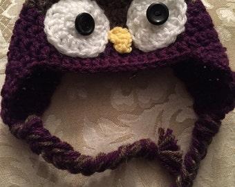 An Owl ear flap cap