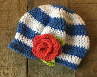 Crocheted newsboy, girl's hat, spring hat, photo prop, baby hat, summer accessory, girl's gift