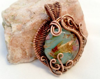 Water Nymph Wire wrapped pendant