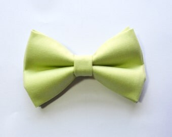 Green Tea Green Bow Tie For baby/Toddler/Teen/Adult/with Adjust strap/Clip on