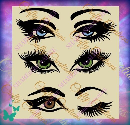 Eyelashes Svg Lips Lashes Makeup Wink Beautiful Face