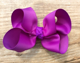 Purple boutique bow