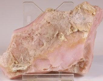 Beautiful Rough Pink Fluorescent Peruvian Opal