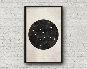 Virgo Constellation Art, Art Print Poster, Wall Art, Virgo Art, Zodiac Constellation, Zodiac Sign, Zodiac Art, Zodiac Print