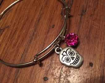 Sugar Skull Cinco de Mayo  Expandable Bracelet