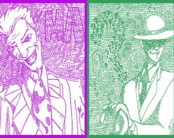 "Joker ""Ha"" and Riddler ""Question Mark"" set at discount price"