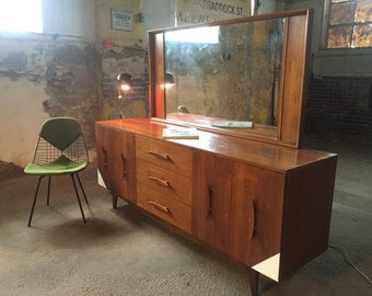 Mid century modern dresser mid century triple dresser modern credenza mid century modern tripple dreeser and mirror