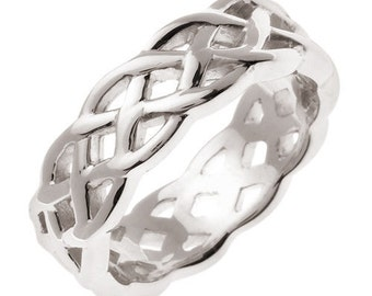 White Gold Celtic Knot Wedding Band