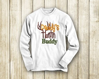 Daddy's Huntin' Buddy Embroidered T-Shirt