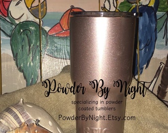 Rose Gold Yeti/Rose Gold Rtic/Custom Yeti/Custom Rtic/Powder Coated Yeti/Powder Coated Rtic/Rose Gold Glitter/Rose Gold/Teacher Gift