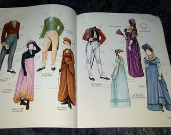 Pride and Prejudice Cut Out Doll Book Jane Austen Characters Paper Doll Regency Fashions Paper Craft Supply