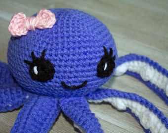 Crochet Octopus Pattern PATTERN ONLY Amigurumi Octopus Pattern Baby Toy Stuffed Toy Doll Gift Childrens Gift