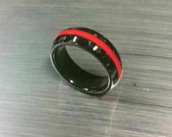 carbon fiber ring red line