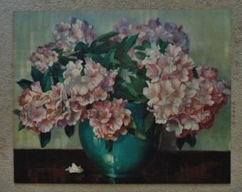 Gorgeous Antique Rhododendron Print c. 1910 Floral Flowers