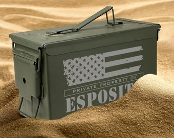 Personalized Ammo Can- Airtight - Waterproof- Groomsman Gift