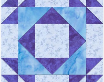 Double X 4 - 15 Inch Block Paper Template Quilting Block Pattern PDF