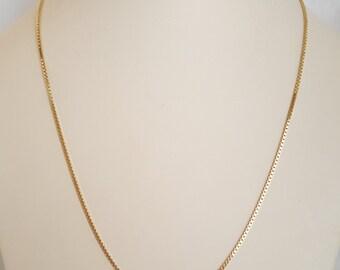 "Beautiful Heavy 22"" Box Chain in 14k Yellow Gold - EB389"
