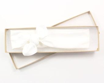 White Organic Cotton Knotted Headband/ Infant Headband/ Toddler Headband/ Solid White Headband