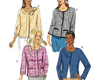 Butterick Sewing Pattern B5712 Misses' Jacket  Size:  A5  6-8-10-12-14  Uncut