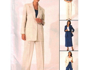 McCall's Sewing Pattern 9276 Misses' Unlined Jacket, Top, Pants, Skirt  Size:  C  10-12-14  Uncut