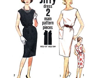 Simplicity Sewing Pattern 4429Misses' Jiffy Dress - estimated Vintage 1970's  Size:  12  Bust  32