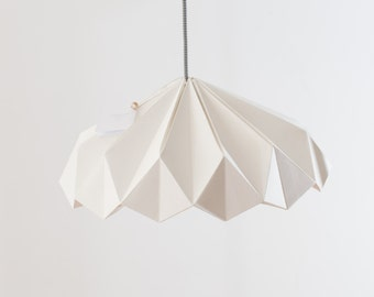 Paper lamp. Origami. Model will be.