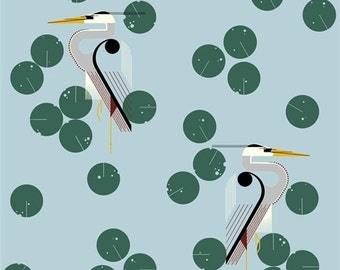 Birch fabrics Charley Harper of maritime Herondipity canvas