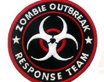 Zombie Outbreak Response Team Biohazard Logo Novelty Iron On Patch Applique HS P-0001