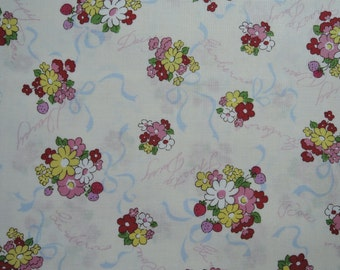 "Half Yard of 2016 Lecien Old New 30's Collection Spring Bouquets on Off White Background. Approx. 18"" x 44"" Made in Japan"