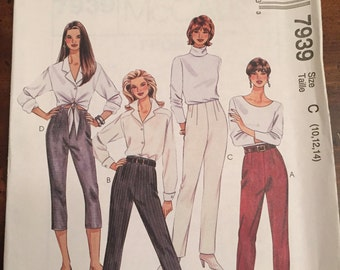 Easy McCall's 7939, Pants and Capri, Size C, Size 10 - 14, UNCUT