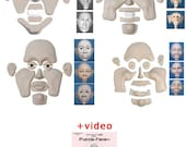 A pfdvd+4 Puzzle-Face Molds: pf-1, pf-2, pf-3, and pf-4, Including PFDVD, instructional video.