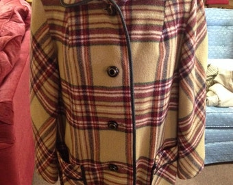 Vintage Plaid Womens Coat by Penguin Fashions