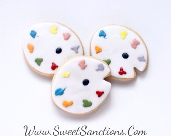 Half Dz. Art Palette Cookies Bringing art to food A great favor for your young artist.