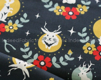 ORGANIC Jackalope Dusk- Tall Tales Collection, Birch Fabrics, Certified Organic Cotton, Quilting Weight