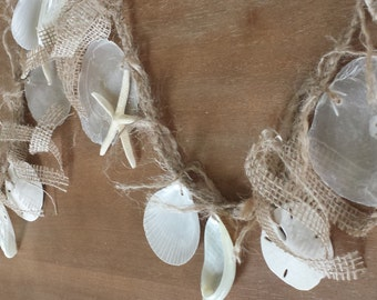 Coastal Decor, Shell Garland, Nautical Garland, Beach Decor, Starfish Garland, Beach Wedding Garland, Seashell Garland