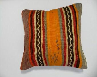 """new kilim, pillows, kilim pillow, coverscushion, cover, accent pillow, decorative, ,16""""x16"""",Decorative Kilim Pillow,Kilim Embroidery Pillow,"""