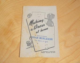 Farmers' Bulletin No. 1954, Making a Dress at Home, Vintage Guidebook