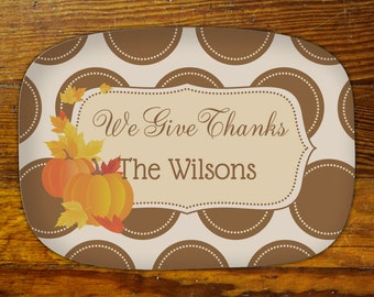 Personalized Serving Platter-We Give Thanks