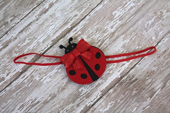 Knitting Ladybug Ladybird Headband : Ladybug baby headband lady bug first birthday by