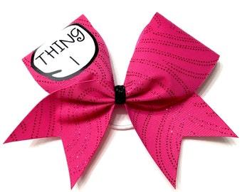 Cheer Bow- THING 1 PINK