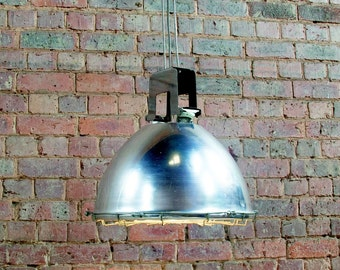 Vintage industrial holophane pendant light