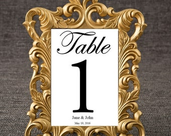 Out of Stock until 9/9 -  Baroque Gold Table Number